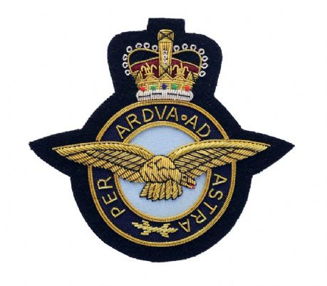 The RAF - Royal Air Force Wire Embroidered Blazer Badge